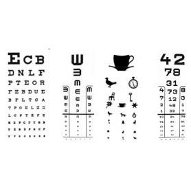 Placă plexi tip numere pentru optotip cu iluminare