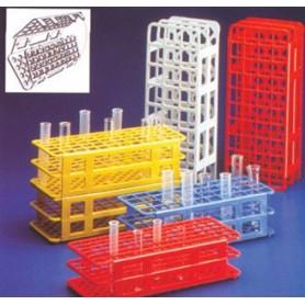 Stativ pentru eprubete din plastic cu 50 locuri