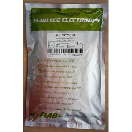 Electrozi ECG de unica utilizare autoadezivi cu capsa FIAB pachet 100 buc