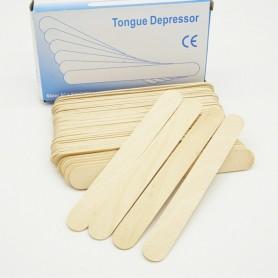 Apăsătoare de limbă, nesterile, lemn, 100 buc