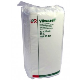 Comprese sterile Vliwazell 10x20 cm(