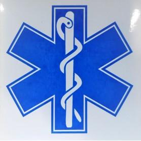 Abtibild cruce albastra,10x10 cm, aplicare interna