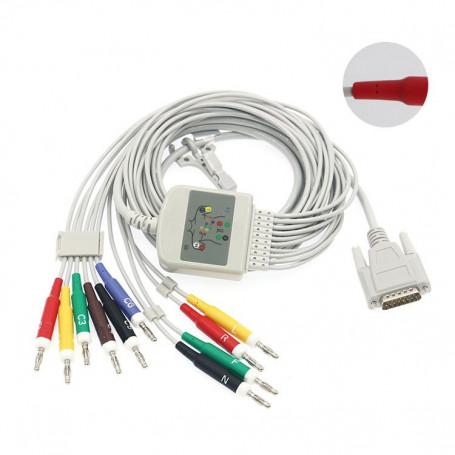 Cablu pacient EKG 10 fire tip 1 conector banana 4 mm, CKA001IB