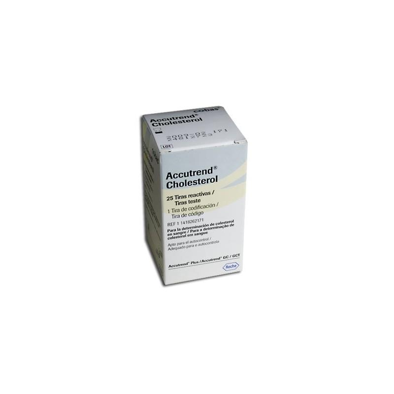 Teste colesterolemie Accutrend, 25 buc/cut